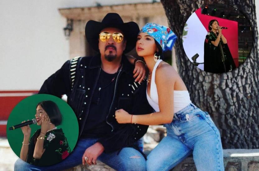 "Pepe Aguilar Angela aguilar himno nacional - Pepe Aguilar admite que Ángela cantó el Himno Nacional ""como si hubiera tomado pastillas"""