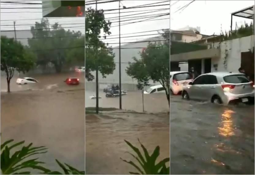 inundaciones tlalnepantla - ¿Xochimilco en Edomex? Automovilistas son sorprendidos por tremenda inundación