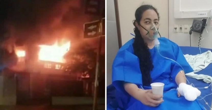 madre incendio hija 1 - Madre entró a su casa en llamas para rescatar a su hija. La pequeña se escondió debajo de una cama