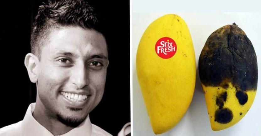 portada fruta sticker - Joven crea pegatinas que mantienen la fruta fresca por 15 días. Está hecho de cera de abejas
