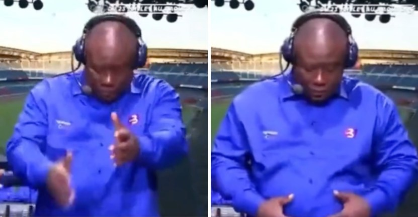 comentarista tokio juegos olimpicos - Comentarista marfileño celebra con bailecitos el pase a cuartos de su selección de fútbol. Hay ritmo