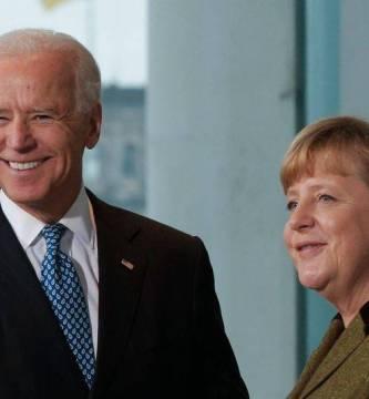 merkel - Merkel sostiene su última reunión como canciller con Biden en La Casa Blanca
