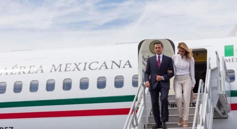 pena nieto avion presidencial - Así viajaba Peña, amigos y familia en el avión presidencial