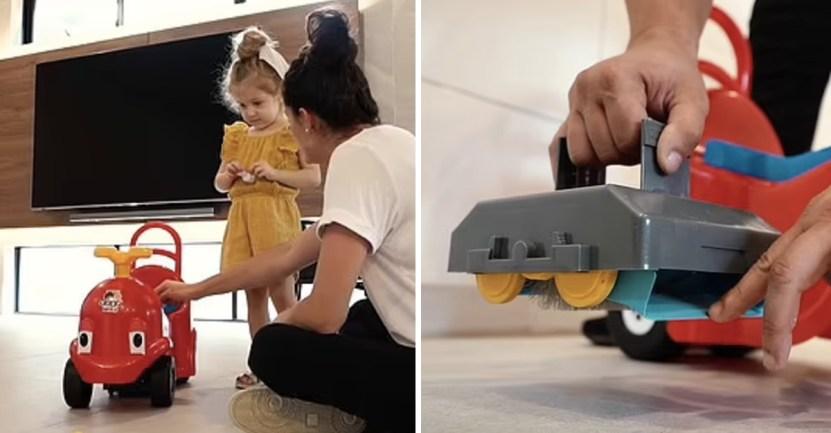 """portada carrito infantil barre piso vendido ayuda madres - Carrito infantil que barre el piso es vendido como """"ayuda para madres"""". Fue criticado por machista"""
