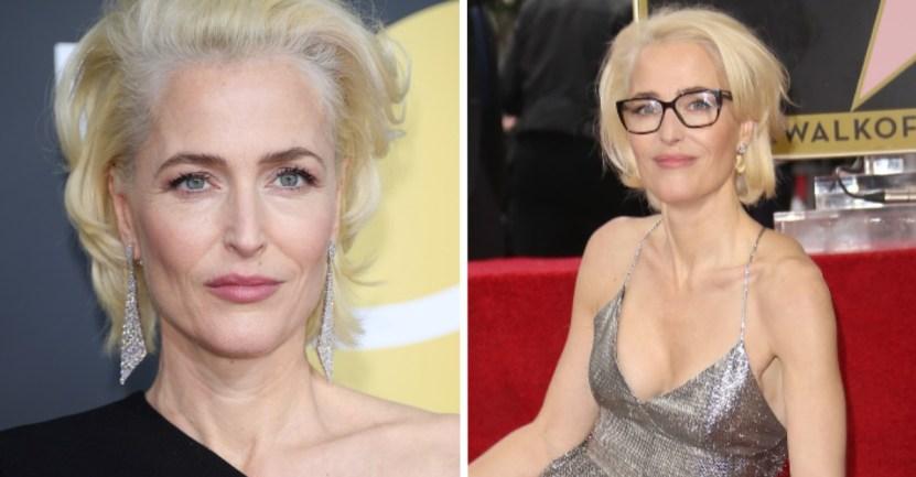 """portada gillian anderson sostenes - """"No me importa si mis senos llegan al ombligo"""": Gillian Anderson le dice adiós a los sostenes"""