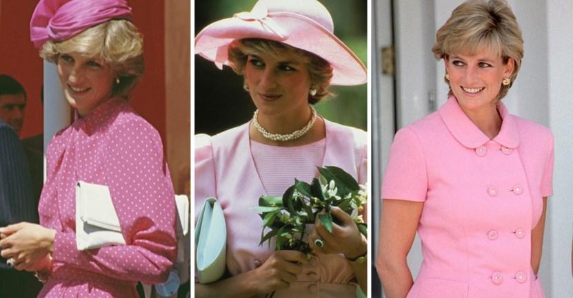 princesa diana - 27 veces que Lady Di lució como toda una princesa con sus atuendos rosa
