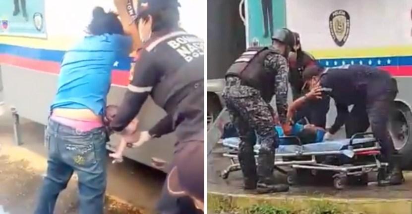 bebe policia parto - Policías asistieron un parto en plena vía pública de Caracas. La madre y el bebé se encuentran bien