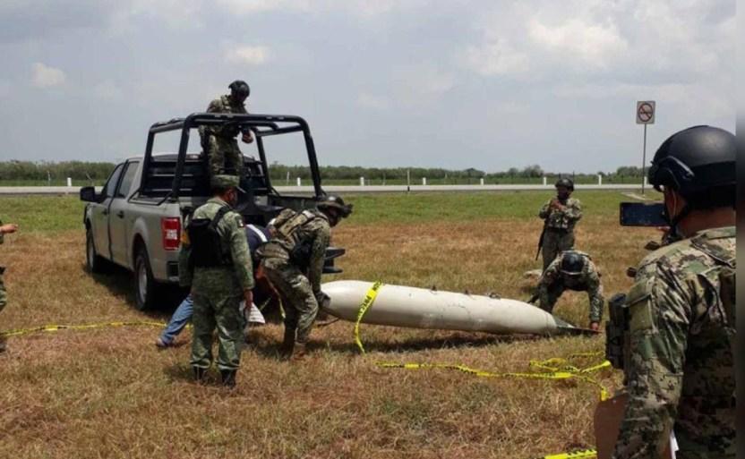 confunden tanque de combustible con misil en tamaulipas 1 crop1627897250160.jpg 242310155 - Confunden tanque de combustible con misil en Tamaulipas
