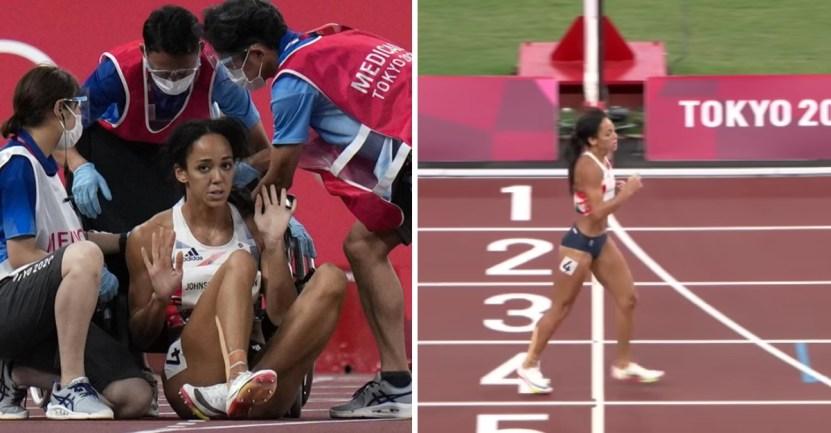tokio corredora lesion - Corredora sufrió una lesión, rechazó la silla de ruedas y terminó casi caminando. Espíritu olímpico