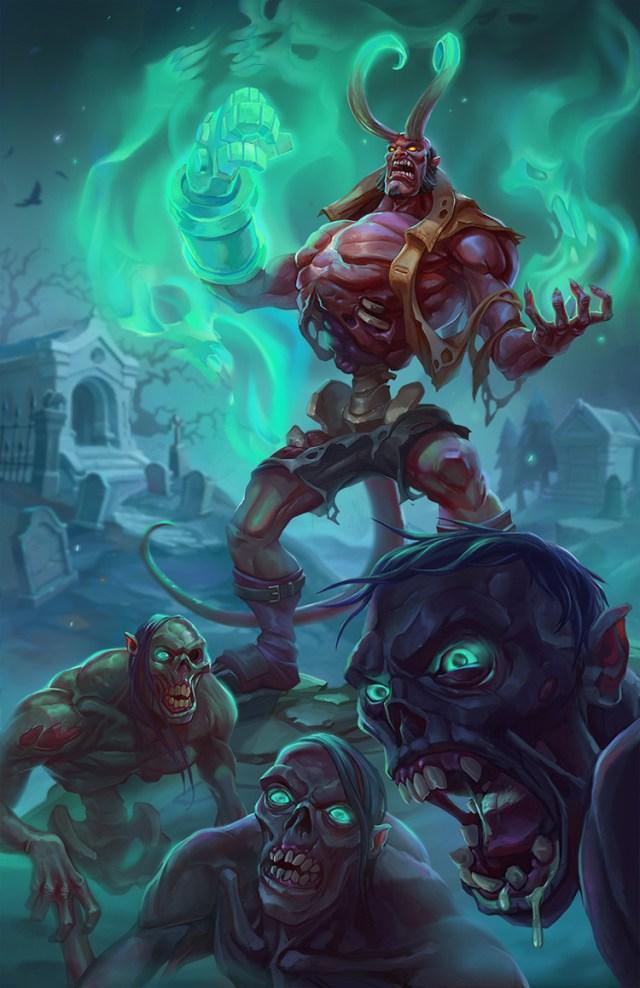 lich zombie hellboy undead art illustration