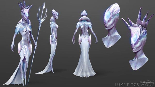 alien design queen character art concept