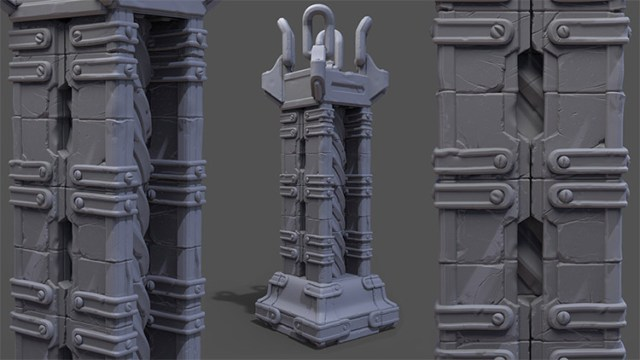 sculpting modular structures zbrush