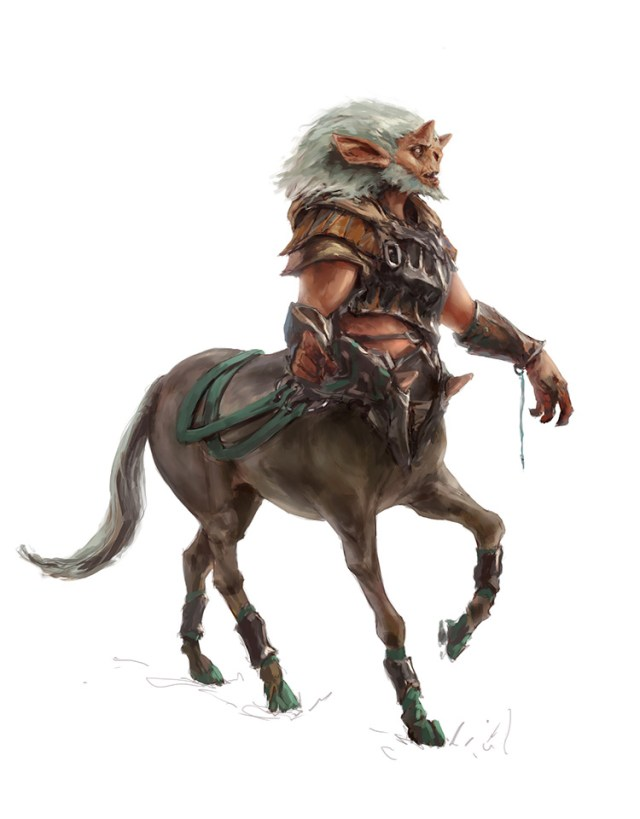 painting character centaur concept