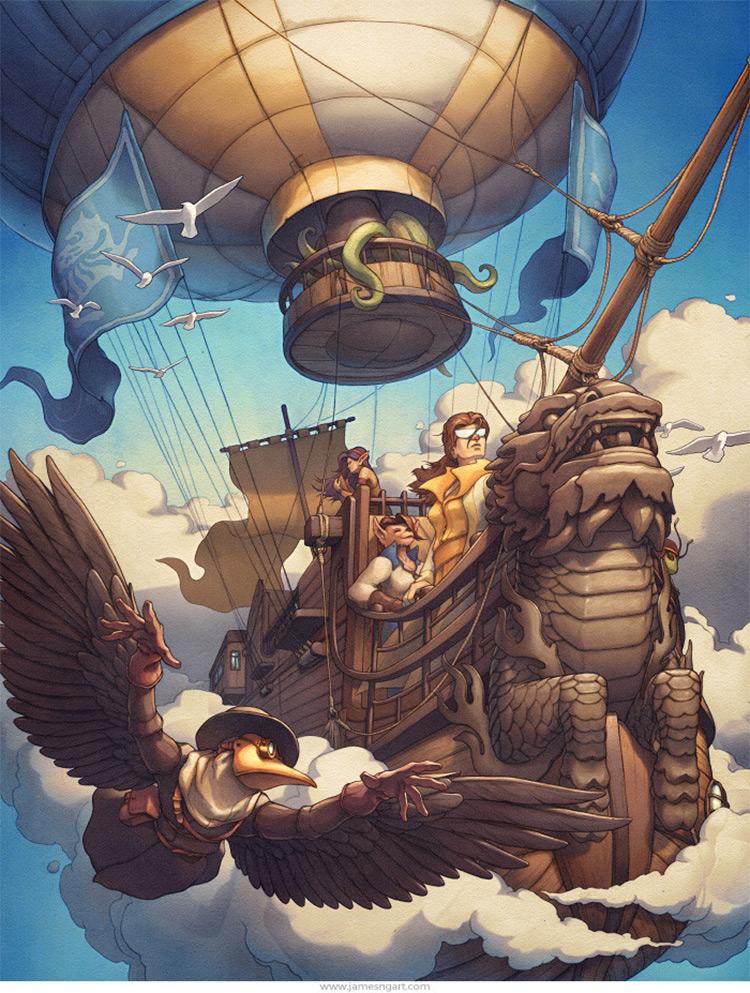 airship book cover artwork