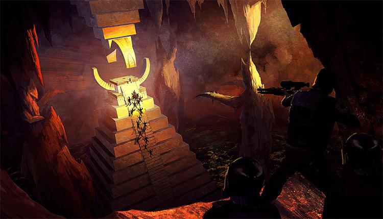 brilliant tomb interior cavern