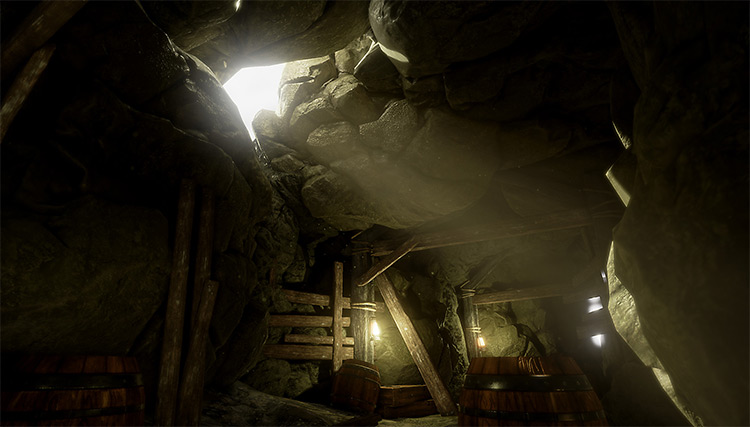 Cavern made with Unreal Engine 4