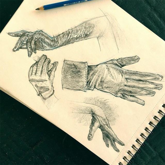 Dark hands sketches