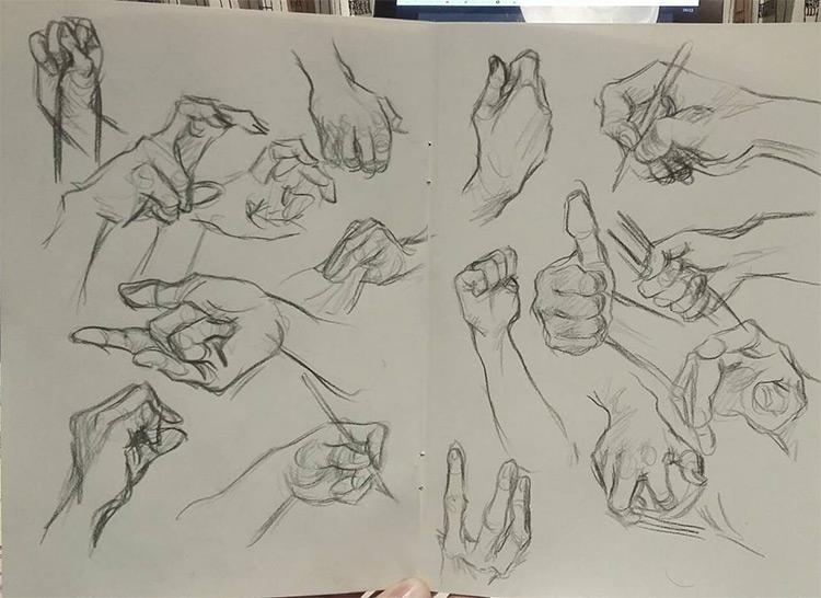 Sketchbook hand drawings
