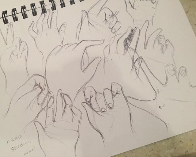 Rough hand sketchings
