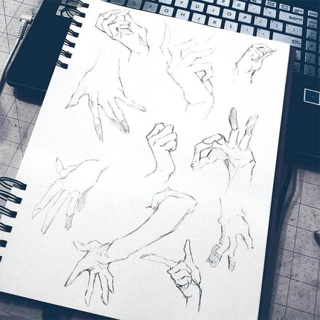 Rough quick sketches