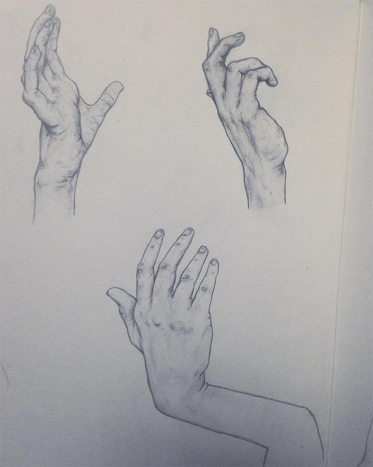 Dark paper with hands