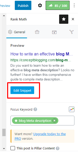 Edit Post ‹ ConceptBlogging — WordPress 1
