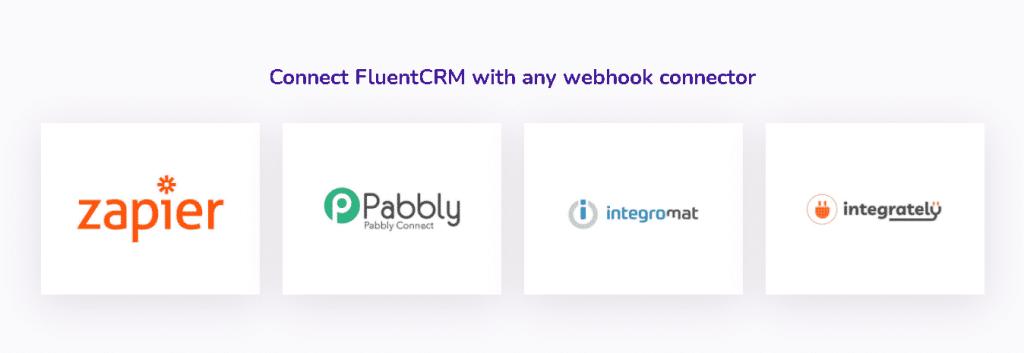 FluentCRM webhook connector