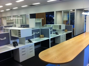 Full office desks draws and plan bench in canningvale