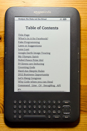Kindle loaded with my blog