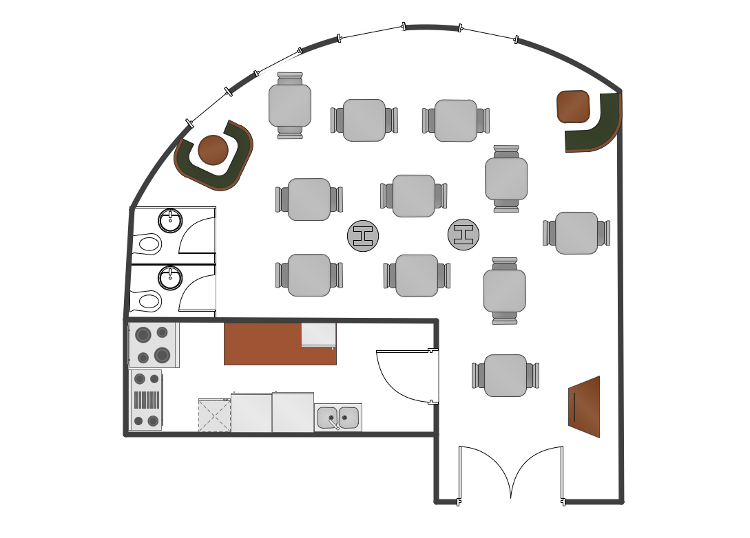 Cafe And Restaurant Floor Plans