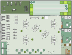 Fitness center floor plan | Gym and Spa Area Plans | Gym