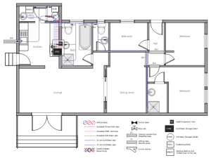 Ductwork layout   House tap water supply   School HVAC