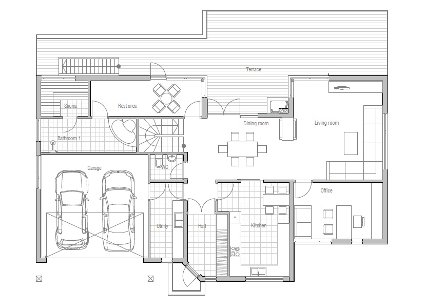 Modern House CH81 With Floor Plans And Details. House Plan