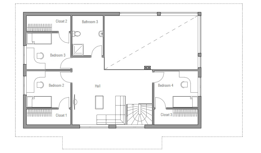 Affordable Home CH35 Floor Plans And 3D Images. House Plan