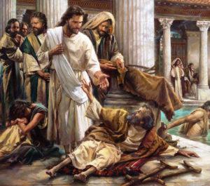 Jesus sana a un cojo