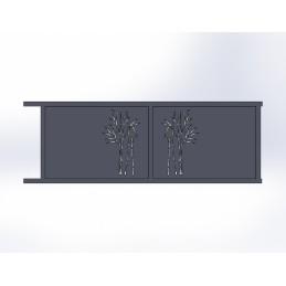 Portail Coulissant Aluminium Virgule Id Metal
