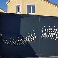 Portail Battant Et Coulissant En Aluminium Fabrique En France Id Metal