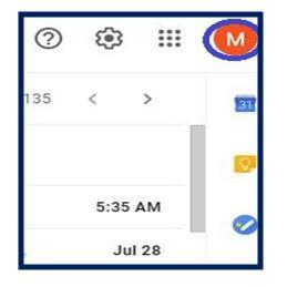 Gmail initials
