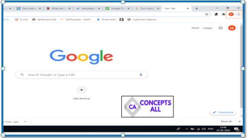 Google Chrome menu options