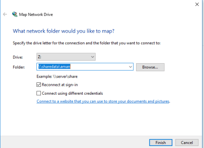 Browse  Network drive