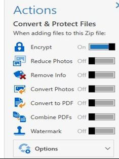 Password Protect a Zip File using WinZip