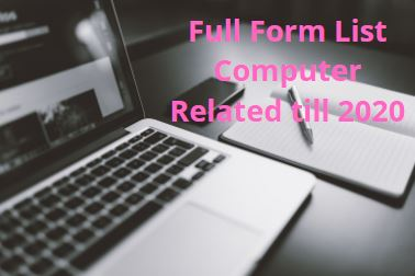 Full form list of computer