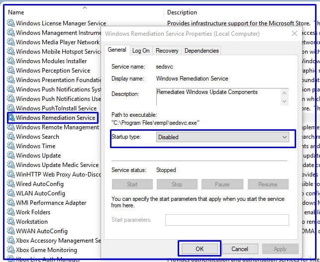 Sedlauncher High Disk usage stop by services.msc