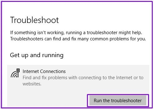 Run-trouble-shooter-for-solving-DNS-server-no internet secured