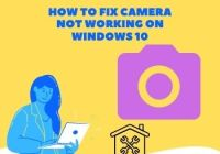 camera not working on Windows 10