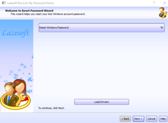 Change password using Lasersoft