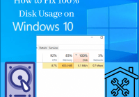100% Disk usage on Windows 10