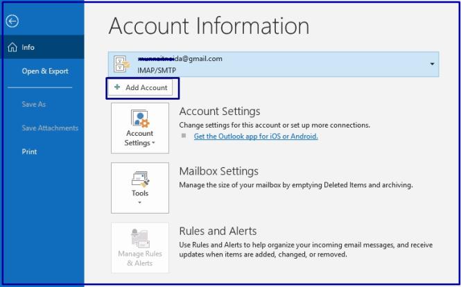 Add Yahoo account in Yahoo