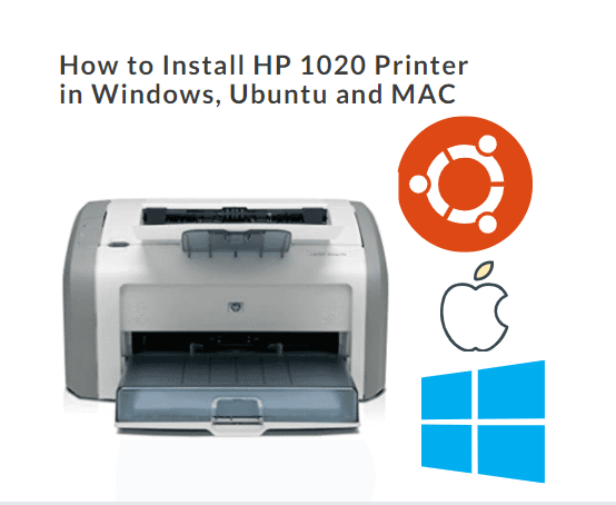 how to install HP 1020 plus printer