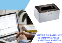 Setting the Paper Size in Samsung Xpress SL-M2020 & SL-M2026 Series